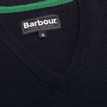 Мужской свитер Barbour Essential Lambswool V-Neck Navy фото- 2