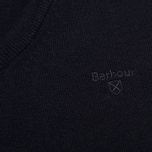 Мужской свитер Barbour Essential Lambswool V-Neck Navy фото- 3