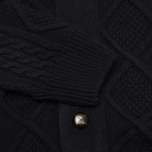 Мужской кардиган Barbour Kirktown Cable Button Navy фото- 2