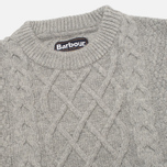 Мужской свитер Barbour Kirktown Cable Crew Grey Marl фото- 1