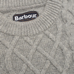 Мужской свитер Barbour Kirktown Cable Crew Grey Marl фото- 2