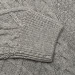 Мужской свитер Barbour Kirktown Cable Crew Grey Marl фото- 3