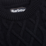 Мужской свитер Barbour Kirktown Cable Crew Navy фото- 2