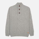 Мужской свитер Barbour Kirktown Half Button Grey Marl фото- 0