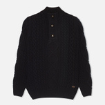 Barbour Kirktown Half Button Men's Sweater Navy photo- 0