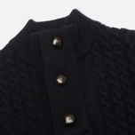 Barbour Kirktown Half Button Men's Sweater Navy photo- 1