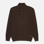 Мужской свитер Barbour Patch Half Zip Dark Brown фото- 0