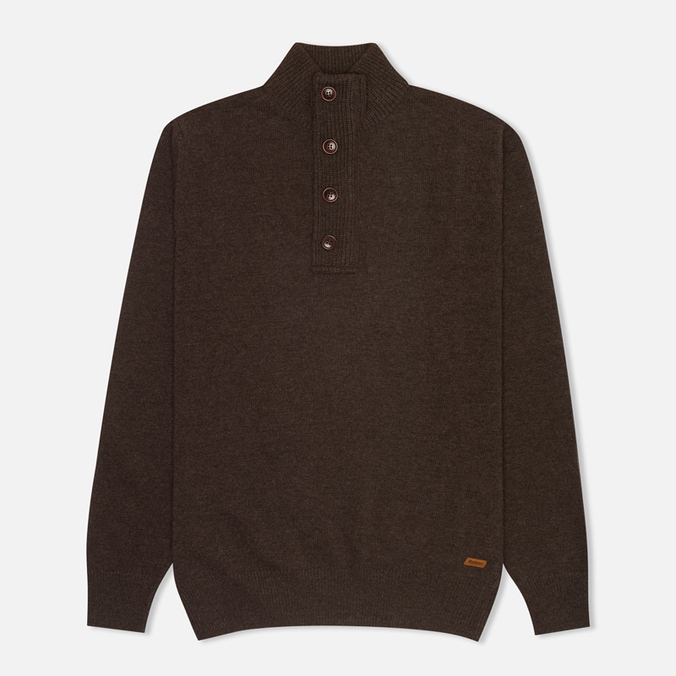 Мужской свитер Barbour Patch Half Zip Dark Brown