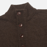 Мужской свитер Barbour Patch Half Zip Dark Brown фото- 1