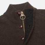 Мужской свитер Barbour Patch Half Zip Dark Brown фото- 2