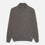 Мужской свитер Barbour Patch Half Zip Storm Grey фото- 0