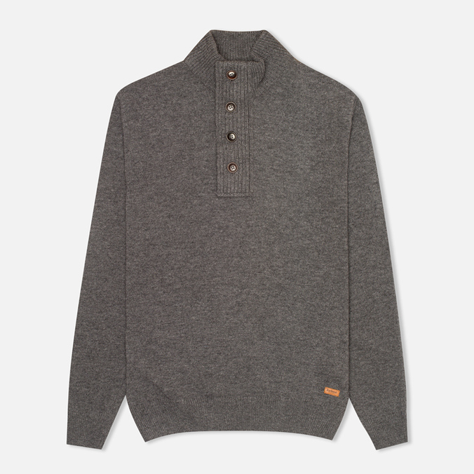 Мужской свитер Barbour Patch Half Zip Storm Grey