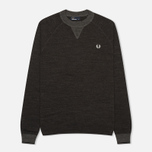Fred Perry Budding Yarn Tipped Men's Sweater Vintage Graphite Marl photo- 0