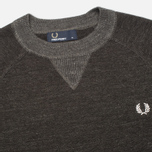 Мужской свитер Fred Perry Budding Yarn Tipped Vintage Graphite Marl фото- 1
