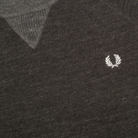 Мужской свитер Fred Perry Budding Yarn Tipped Vintage Graphite Marl фото- 2