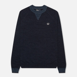 Мужской свитер Fred Perry Budding Yarn Tipped Vintage Navy Marl фото- 0
