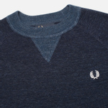 Мужской свитер Fred Perry Budding Yarn Tipped Vintage Navy Marl фото- 1
