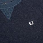 Мужской свитер Fred Perry Budding Yarn Tipped Vintage Navy Marl фото- 2
