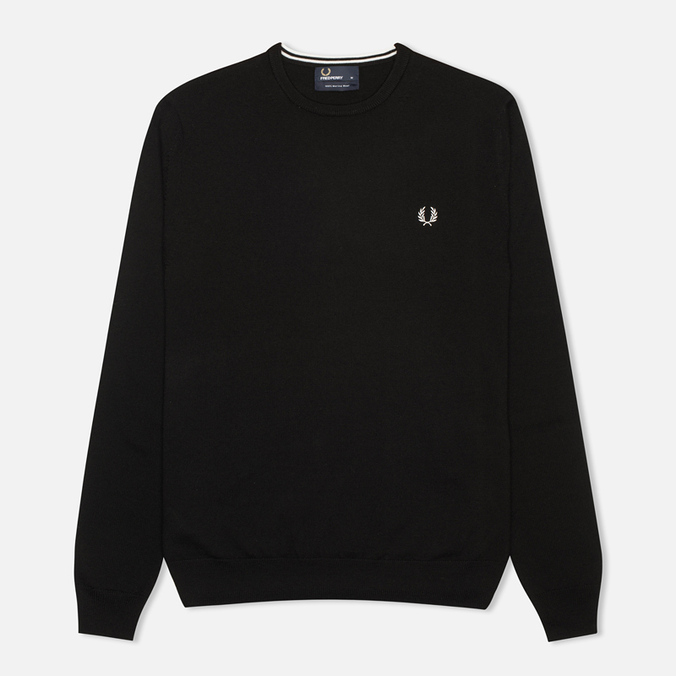 Fred Perry Classic Crew Neck Men's Sweater Black