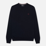 Fred Perry Classic Crew Neck Men's Sweater Dark Carbon photo- 0