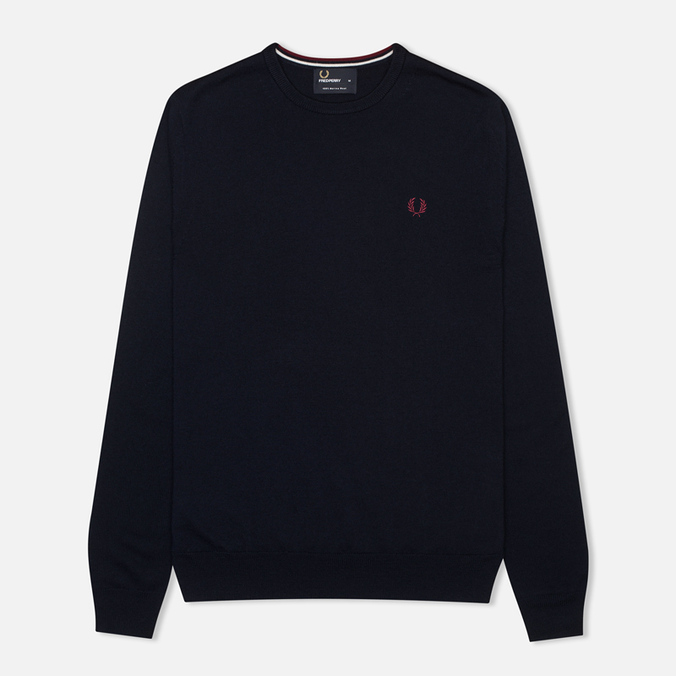 Fred Perry Classic Crew Neck Men's Sweater Dark Carbon