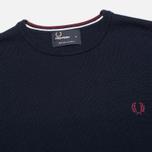 Мужской свитер Fred Perry Classic Crew Neck Dark Carbon фото- 1