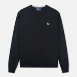 Fred Perry Classic V Neck Men's Sweater Black photo- 0