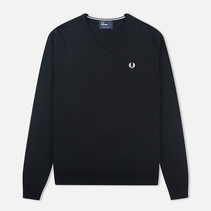 Fred Perry Classic V Neck Men's Sweater Black