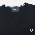 Fred Perry Classic V Neck Men's Sweater Black photo- 1