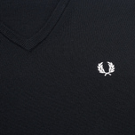 Fred Perry Classic V Neck Men's Sweater Black photo- 2