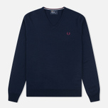 Мужской свитер Fred Perry Classic V Neck Dark Carbon фото- 0