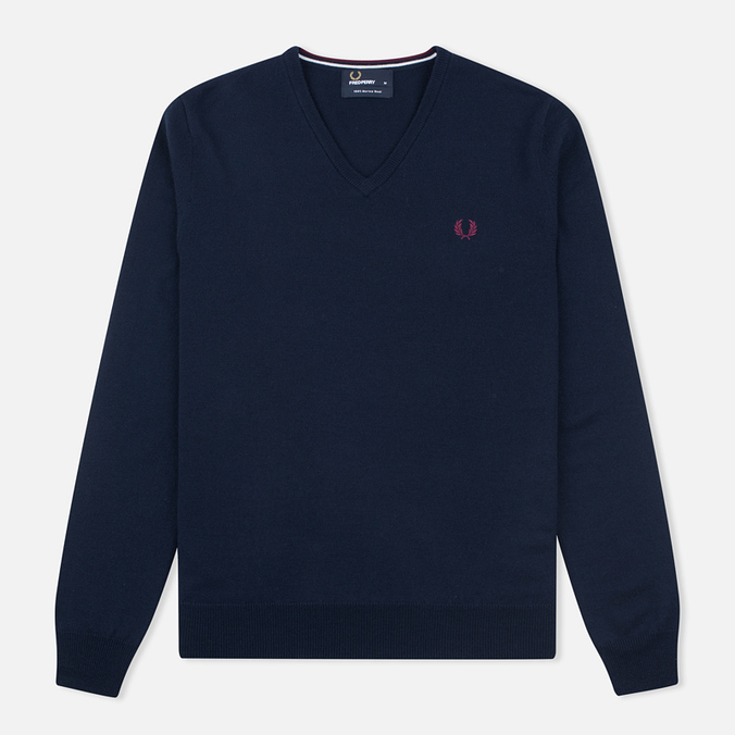 Мужской свитер Fred Perry Classic V Neck Dark Carbon