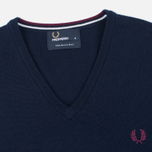 Мужской свитер Fred Perry Classic V Neck Dark Carbon фото- 1