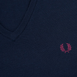 Мужской свитер Fred Perry Classic V Neck Dark Carbon фото- 2