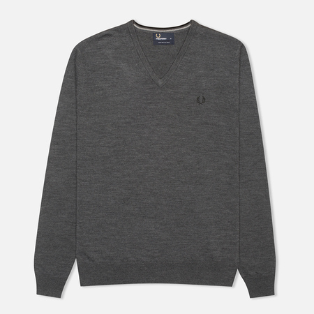Fred Perry Classic V Neck Men's Sweater Graphite Marl