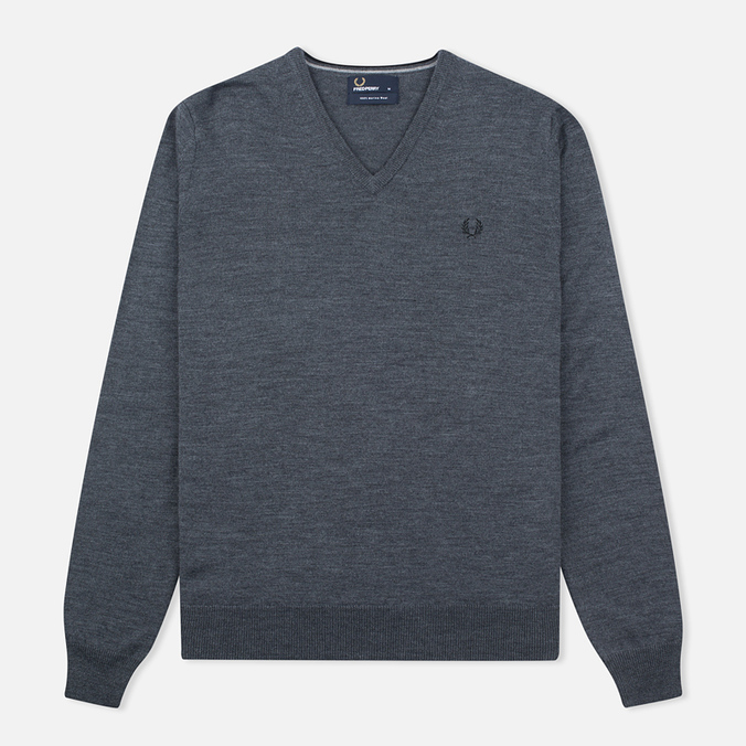 Мужской свитер Fred Perry Classic V Neck Graphite Marl