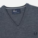 Мужской свитер Fred Perry Classic V Neck Graphite Marl фото- 1