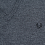 Мужской свитер Fred Perry Classic V Neck Graphite Marl фото- 2