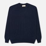 Мужской свитер Maison Kitsune Rib Dark Blue Melange фото- 0
