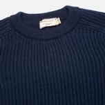 Мужской свитер Maison Kitsune Rib Dark Blue Melange фото- 1