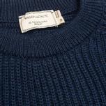 Мужской свитер Maison Kitsune Rib Dark Blue Melange фото- 2