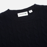 Мужской свитер Lacoste Cable Knit Jumper Midnight фото- 1