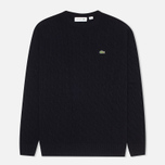Lacoste Cable Knit Men's Sweater Midnight photo- 0