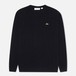 Мужской свитер Lacoste Cable Knit Jumper Midnight фото- 0