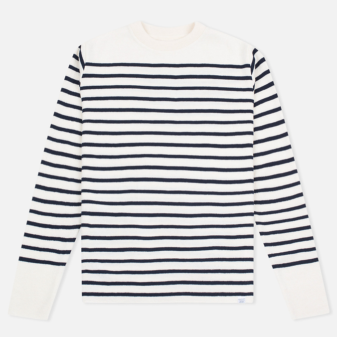 Norse Projects Verner Pure New Wool Men's Sweater Ecru Stripe