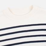 Norse Projects Verner Pure New Wool Men's Sweater Ecru Stripe photo- 1