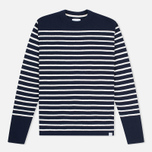 Мужской свитер Norse Projects Verner Navy Stripe фото- 0