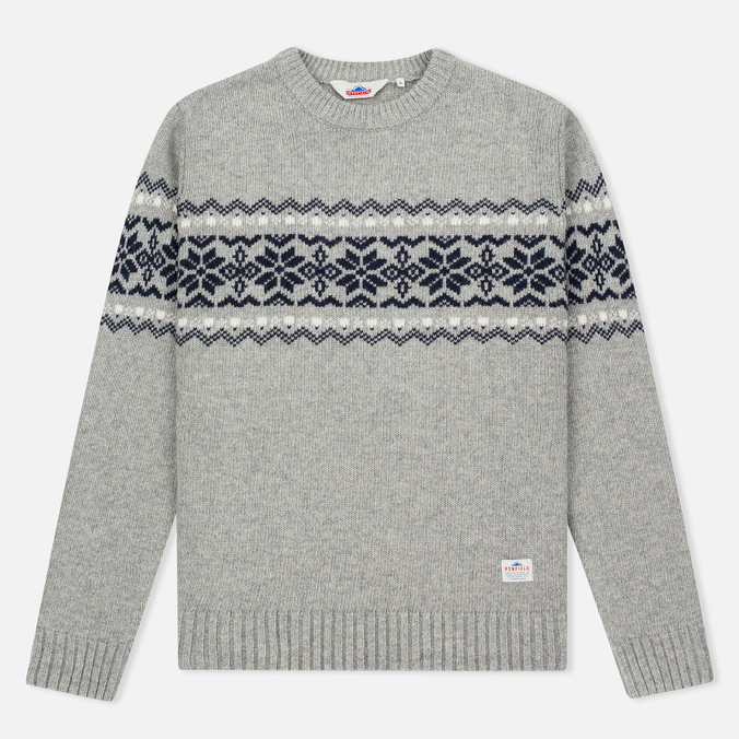 Penfield Hickman Snowflake Men's Sweater Grey