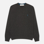 Мужской свитер Pringle of Scotland Contrast R Knit Charcoal фото- 0