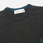 Мужской свитер Pringle of Scotland Contrast R Knit Charcoal фото- 1